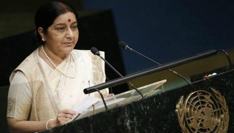 सुषमा स्वराज ने प्रधानमंत्री की नीति को वैश्विक मंच पर बढाया आगे