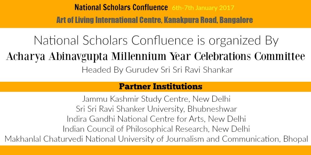 RSS SarKaryavah and Akhil Bhartiya sah-Prachar Pramukh will be among speakers at the mega-event on Abhinavagupta