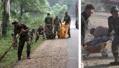 Army's assistance in 'Clean India' mission is invaluable for Jammu and Kashmir