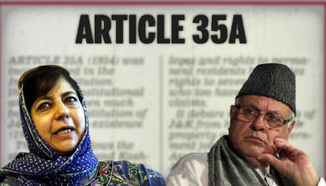 असंवैधानिक अनुच्छेद 35-A में रोड़ा बनते जम्मू-कश्मीर के सियासतदार