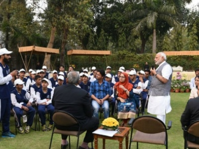 PM Narendra Modi meets youth and children from Jammu and Kashmir
