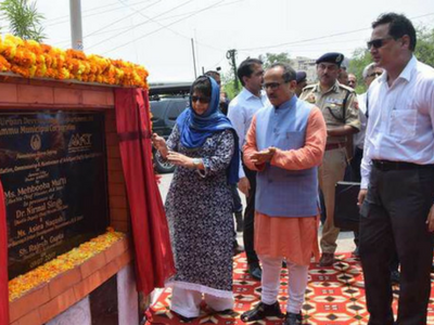 Mehbooba launches key projects in Jammu