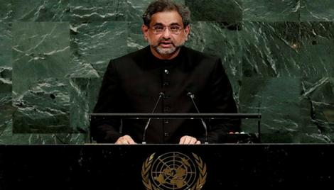 संयुक्त राष्ट्र में पाकिस्तान के कठपुतली प्रधानमंत्री ने फिर झूट का सहारा लिया