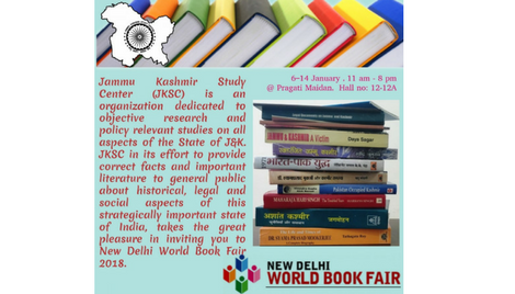 Invitation  New Delhi World Book Fair – 2018 Jammu Kashmir Study Center