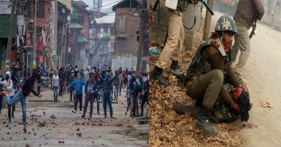 Murderous mob of stone-pelters or innocent people?