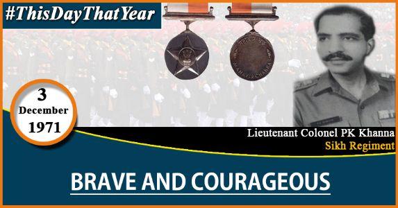 Lieutenant Colonel PK Khanna: The Wartime Heros of Chhamb