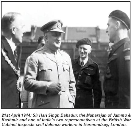 MAHARAJA HARI SINGH THWARTED BRITISH CONSPIRACY: ACCEDED J&K TO INDIA