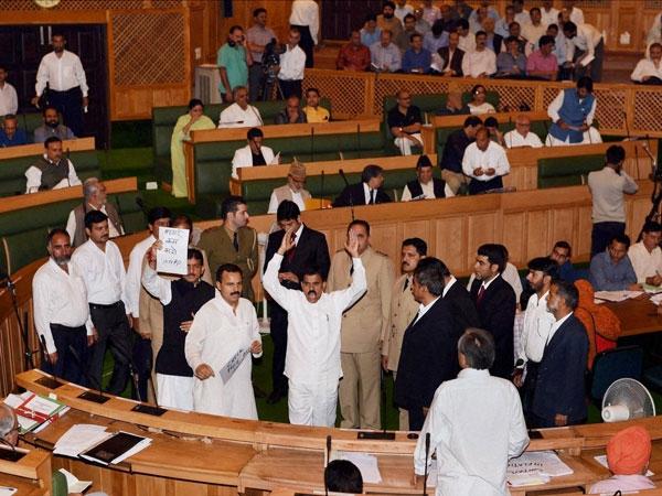 पाकिस्तान विरोधी नारों से गूंजी जम्मू कश्मीर विधानसभा