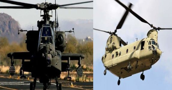 First batch of Apache and Chinook helicopters will reach India by March 2019