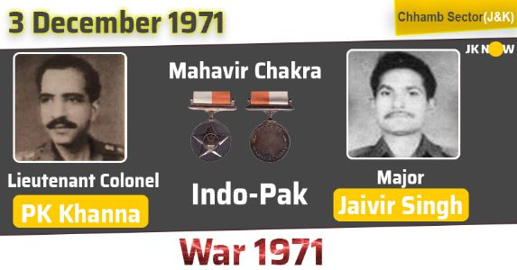 Saluting Mahavir Chakra Lieutenant Colonel PK Khanna and Major Jaivir Singh, who displayed exemplary spirit on the battlefield in 1971 War