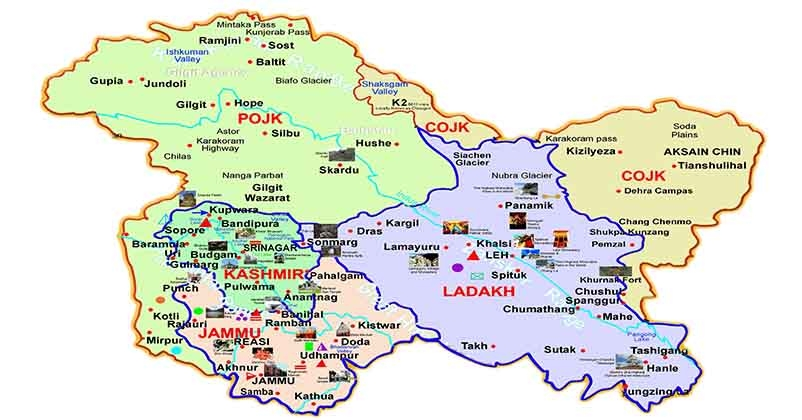 map of kashmir valley Jammu Kashmir Now The Facts And Information About J K Let Us map of kashmir valley