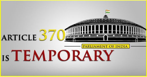 "Article 370 – A ""temporary"" Article with fake tag of ""Special""."