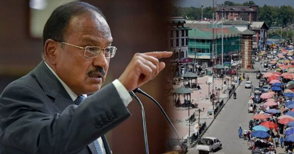 """""""92.5% area of J&K is free of restrictions""""-NSA Ajit Doval, """"J-K leaders to be in custody till environment created for democracy to function"""""""