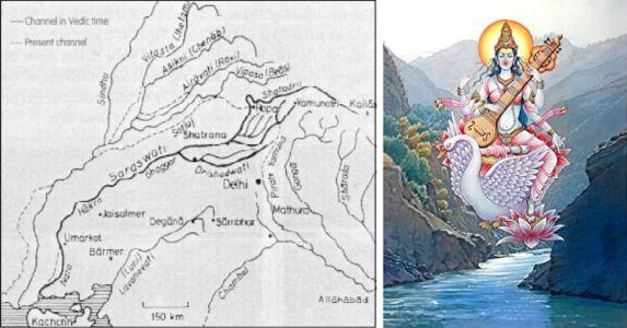 Legend of Saraswati - the cradle of Vedic civilization of India