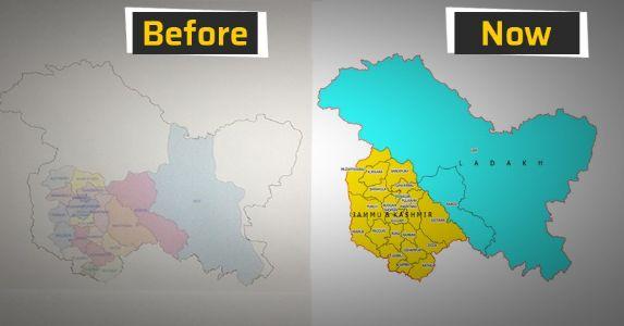 #Fact भारत सरकार ने पहली बार जारी किया है जम्मू कश्मीर और लद्दाख का आधिकारिक मानचित्र, पहले #POJK , #POL और #COL के हिस्से को खाली दिखाने की परंपरा थी