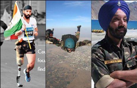 कारगिल युद्ध के हीरो मेजर डी पी सिंह ने बनाया स्काईडाइविंग का नया रिकॉर्ड, कीर्तीमान स्थापित करने वाले सेना के पहले दिव्यांग जवान