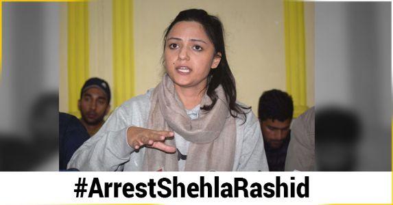 सेना के खिलाफ फेक न्यूज़ फैला रही हैं शेहला रशीद, गिरफ्तारी की मांग