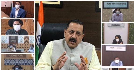 केंद्रीय मंत्री डॉ. जितेंद्र सिंह ने J&K के सभी 20 जिलाधिकारियों के साथ की समीक्षा बैठक, कोविड मरीजों के लिए शुरू होंगी टेली परामर्श सुविधाएं